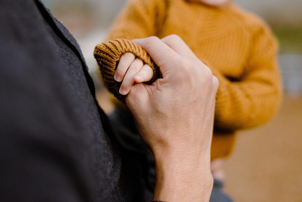A toddler hand.